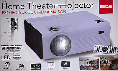 RCA RPJ136 2200 Lumens Home Theater Projector 1080p HDMI