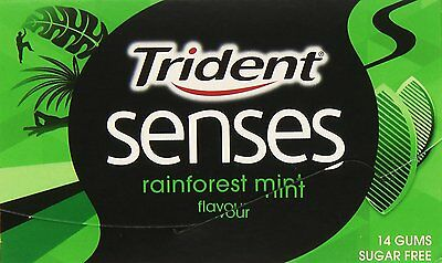 Rainforest Mint (TRIDENT SENSES RAINFOREST MINT SIN AZUCAR ESTUCHE 12 PAQUETES DE 14 CHICLES)