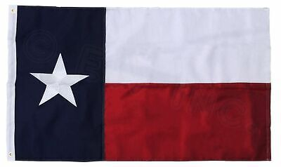 3x5 Texas Flag Embroidered Texas State Banner Grommets FAST USA - Flag Banner