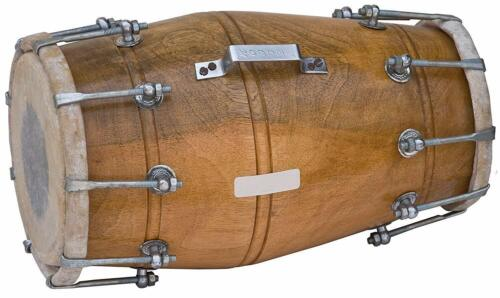sai Musicals Dholak Drum, Mango Wood, Bolt-tuned, Padded Bag, Spanner, Dhol
