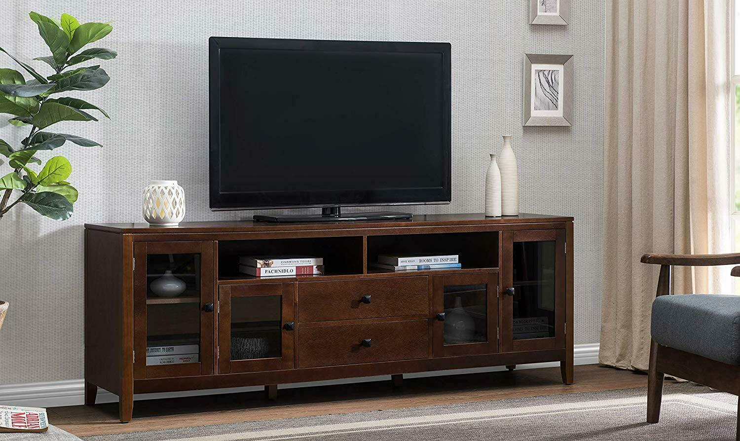 "TV Stand 60"" or 72"" Flat Screen Home Furniture Entertainment"