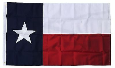 (Lot of 6 Flags) 3x5 Embroidered State of Texas Nylon Flag 3'x5' Grommets Banner