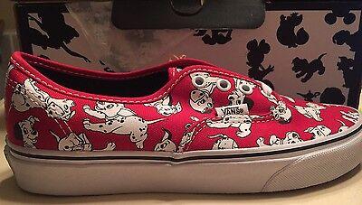 b21dfb4e04e0 Vans X Disney 101 Dalmatians Red Puppy Story Authentic Lo Toy Pro Women s  9.5