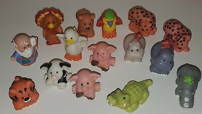 Lot Of 15 Fisher Price Little People Zoo Farm Animals Noah Ark