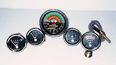 Ih Farmall 460 560 Gas Diesel Tachometer Temp Oil Pressure Ampere Fuel Gauge