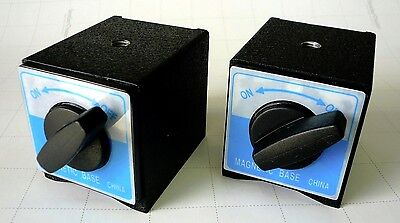 2 Powerful Magnetic Bases For Work Holding Positioning Dialtest Indicator New