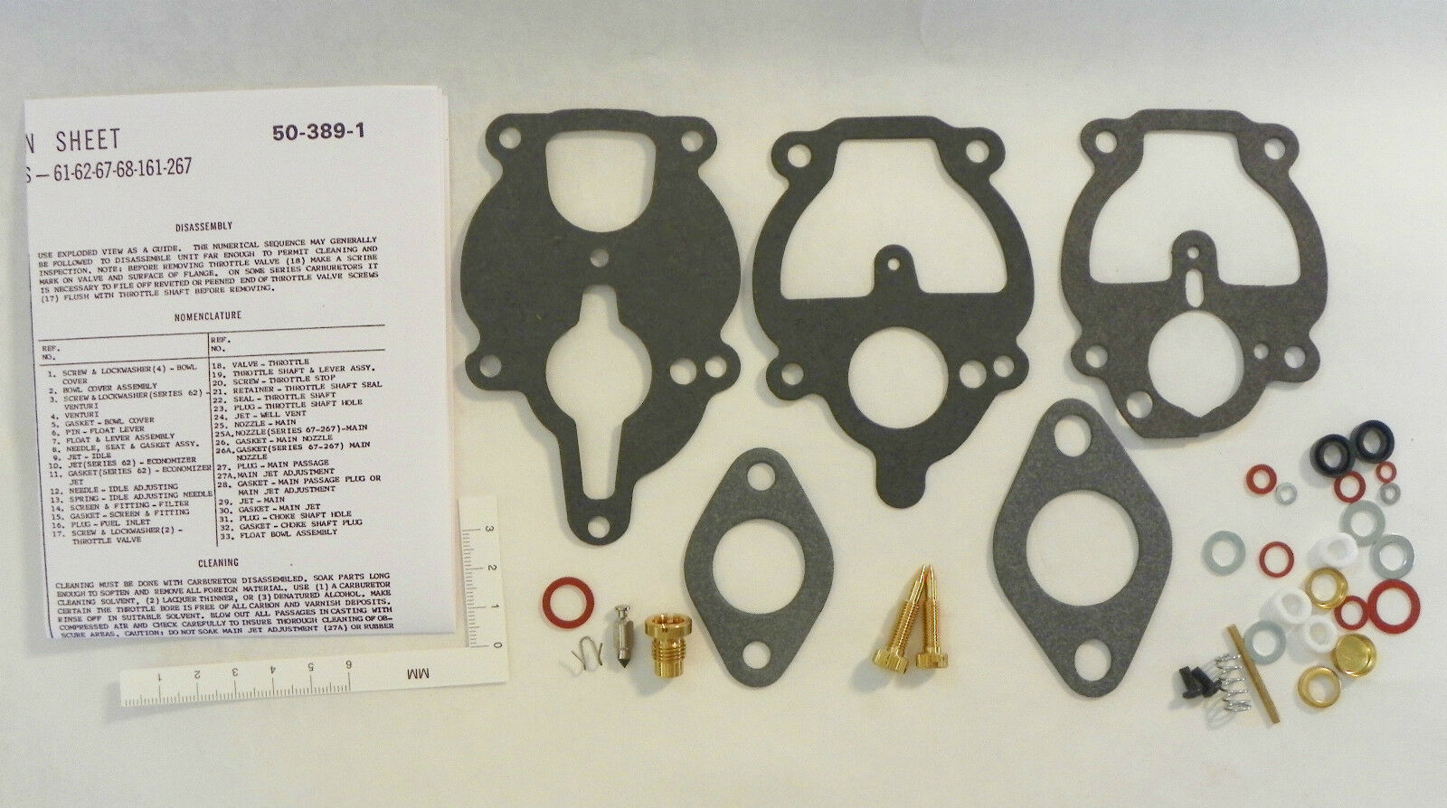 Farmall A B C AV Super A Super C 130 140 Carburetor Repair KIT Zenith 778-615