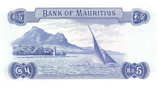 Mauritius  5  Rupees   ND. 1967  P 30c  Series A/47 Uncirculated Banknote MeF