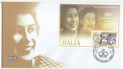 MALTA  2003  Queen's Coronation Jubilee    Unaddressed First Day Cover  Ref:3608