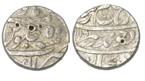 India Mughal/Princely State Silver Ruppe Coin, Very Fine