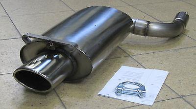 Mercedes SLK Typ R170 Edelstahl Sportauspuff Endschalldämpfer mit TÜV in Oval