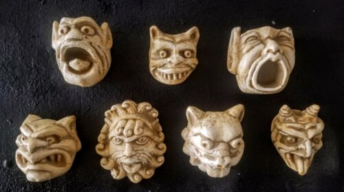 Gargoyle Set 7 Gothic Faces Mythical Wall Sculpture