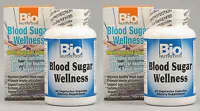 Bionutrition Blood Sugar Wellness 60 Caps  Paks Of 2