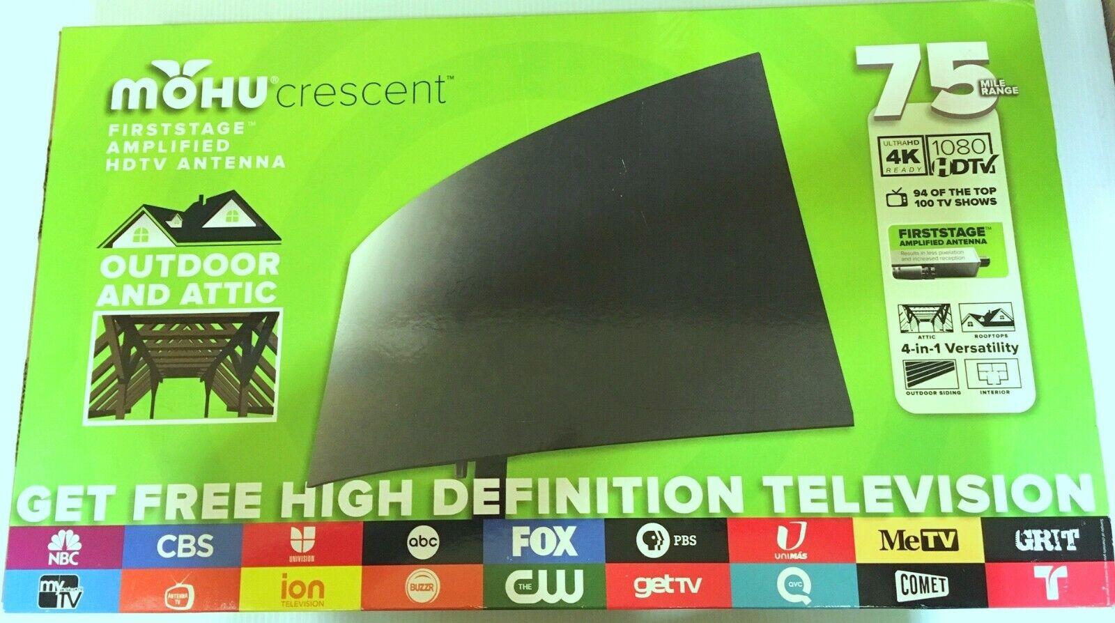 crescent outdoor 75 mile range tv antenna