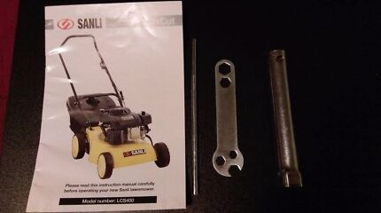 Sanli lawnmower manual and tools kit Semaphore Park Charles Sturt Area Preview