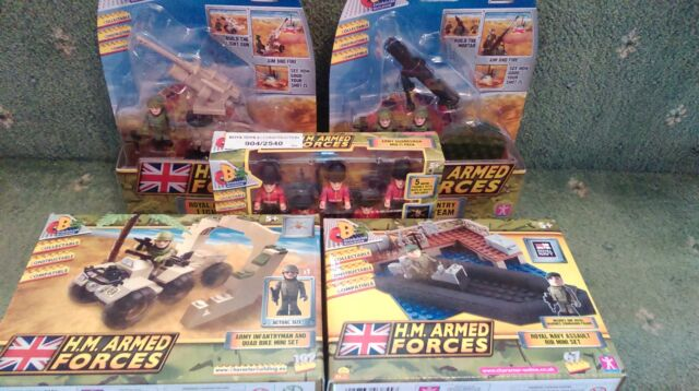 CHARACTER BUILDING HM ARMED FORCES - ROYAL NAVY ASSAULT RIB MINI SET **BUNDLE**