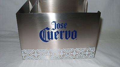 JOSE CUERVO TEQUILA - PROMO STAINLESS STEEL BARWARE NAPKIN & STIRRER CADDY *NEW*