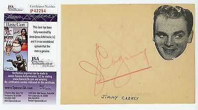 JAMES JIMMY CAGNEY & FRANKLIN PANGBORN Authentic Hand-Signed 6.5x5 cut (JSA COA)
