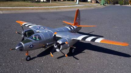 RC Plane, Dynam B-26 Marauder, 1500, Retracts, Flaps, Lights, PnP