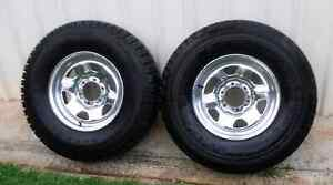 """16"""" 4X4 WHEELS AND TYREE WITH 95% TREAD 235/85R16 TRAILER USE Kallangur Pine Rivers Area Preview"""