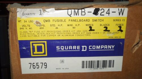 Square D Qmb224w 200a 2p 240v Fusible Panelboard Switch Surplus