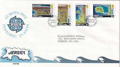 (26880) CLEARANCE GB Jersey FDC Historic Events 1982