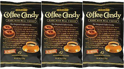 3 BAG BALIS BEST REAL COFFEE CANDY 5.3 oz  42 pcs Indonesia