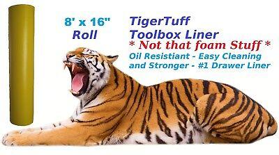 "Professional Grade Tool-Box Drawer Liner | 16"" x 8 Feet | Oil resistant"