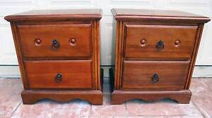2 x 2 Drawer Large Wooden Bedside/Side Tables Rothwell Redcliffe Area Preview