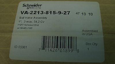 Tac Schneider 1 2-way Duradrive Electric Ball Valve Actuator Va-2213-815-9-27