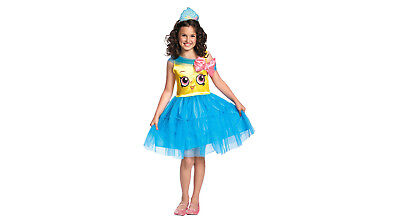 Shopkins Girls Cupcake Queen Halloween Dress-Up Costume~Size Small 4-6 - Halloween Cupcake Costume
