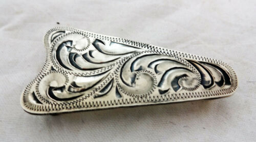 Ear Arrow Concho Hansen Sterling Silver Plate Headstall Screw Antiqued Tack New