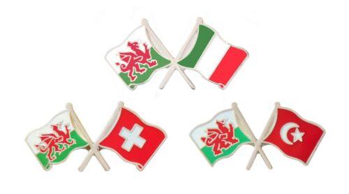 Wales European Football Opponents Friendship Pin Badge Set