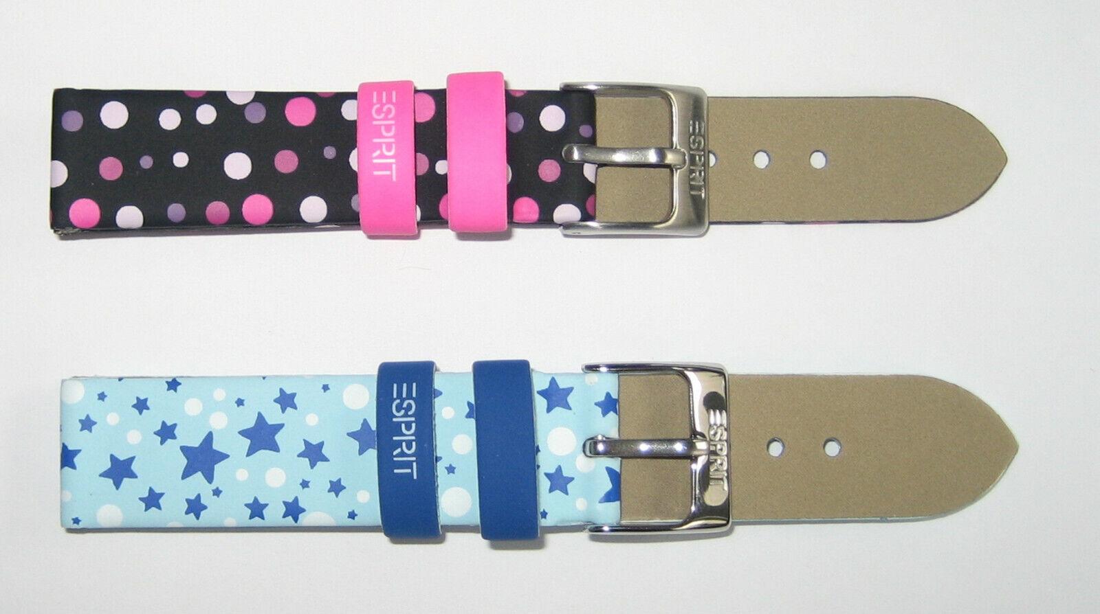 Kinder Uhrenarmband Ersatz Armband Pink oder Blau 15mm oder 16mm Bandanstoß 1502