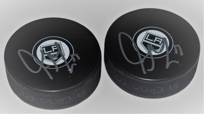 TORREY MITCHELL signed (LOS ANGELES KINGS) souvenir logo hockey puck W/COA