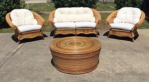 Stunning cane wicker outdoor/indoor lounge setting Dicky Beach Caloundra Area Preview