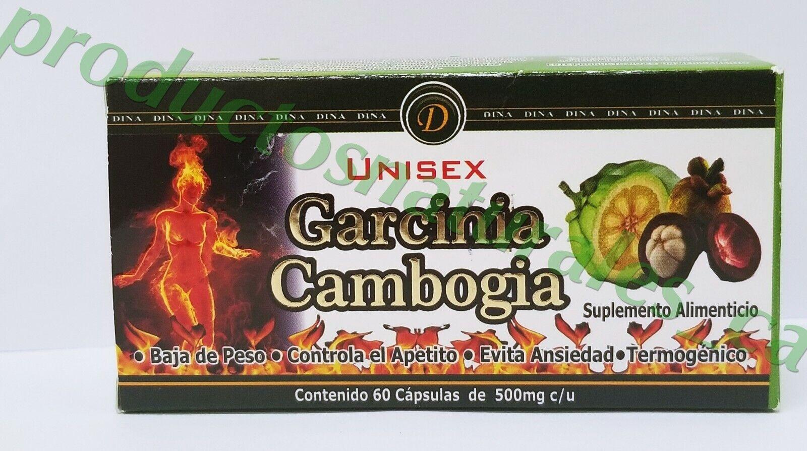 Garcinia Cambogia Unisex Dietary Supplement Baja de Peso Reduce el apetito 60cap