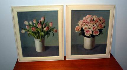 2 x Matching Flower Pictures *Great Condition Heidelberg West Banyule Area Preview