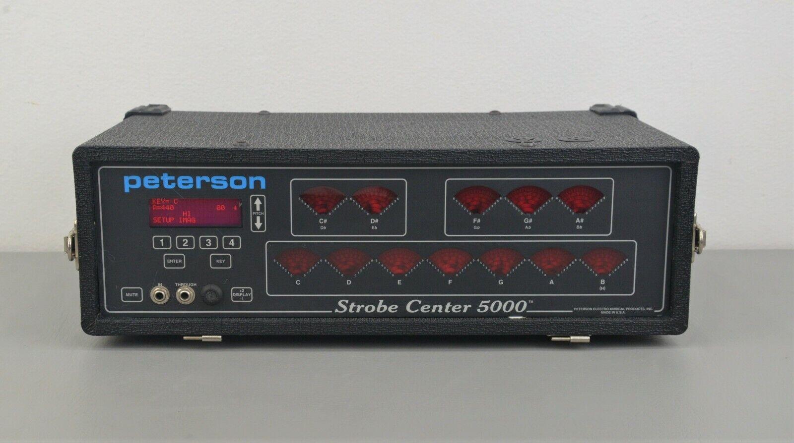 Peterson Strobe Center 5000 12 Wheel Strobe Tuner Device w/ Stretch Tuning (Used - 1495 USD)