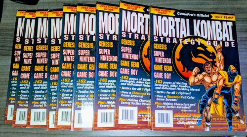 Mortal Kombat Gamepro Strategy Guide    Very Good, w/ Poster   