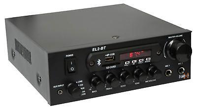 E-Lektron EL-2BT HiFi Verstärker Class-D Bluetooth FM-Radio MP3 100W 2x Mic NEU