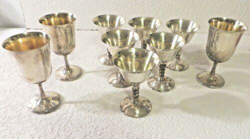 Vintage Plator Spain Silver Plated Wine Goblets Set Of 6 Grapevine Embossed