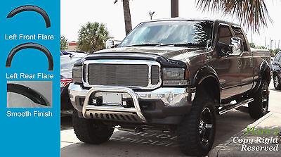 FENDER FLARES POCKET RIVET STYLE 99-07 Ford F250 350 450 PAINTABLE Fsh FULL SET