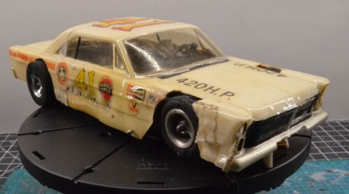 Vintage 1/24 scale slot car with a Dynamic and wire chassis