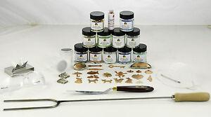 Enamelling Starter Kit Set 2 (Enamel powder, Copper blanks and Accessories!)