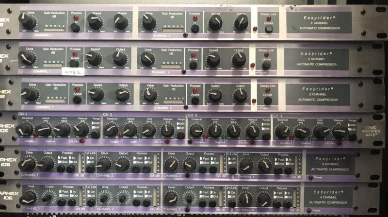 Lot of Aphex Rack Gear 1 Model 105, 2 Model 106 & 3 Model 108 Only 1 Power Plug
