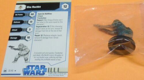 Star Wars Miniatures Gha Nachkt #35/40 NEW NIB SWM The Clone Wars