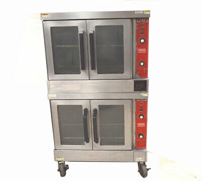 Vulcan Vc4gd Dual Commercial Gas Convection Oven Vari-speed 44kbtuhr 150-500f