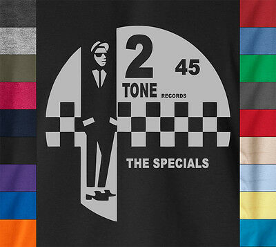 2 TONE RECORDS The Specials T-Shirt Jerry Dammer Reggae Ska Ringspun Cotton Tee 2 Tone Tee