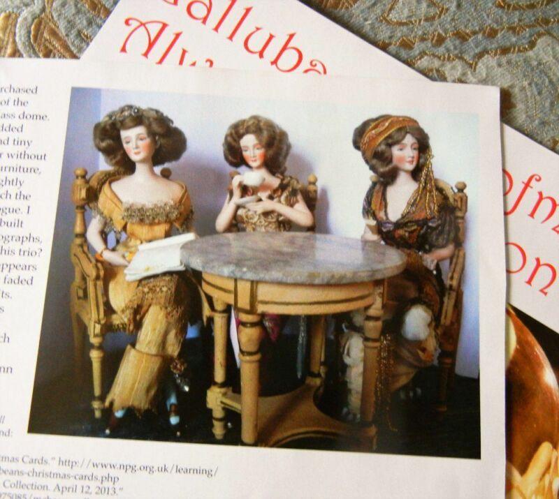 4p History Article + Pics -  Antique 1910 Galluba Hoffman Porcelain High Fashion